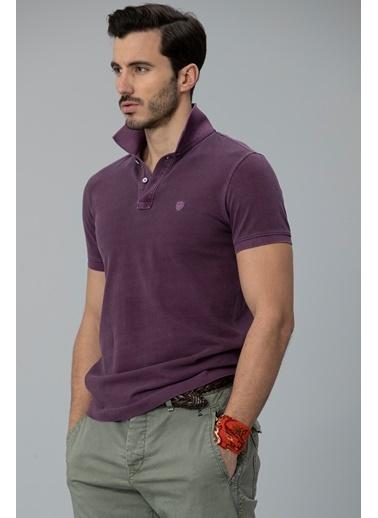 Lufian Vernon Spor Polo T- Shirt  Mor